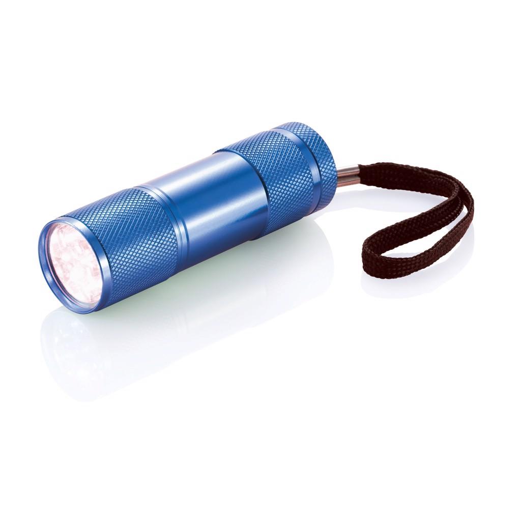 Hliníková svítilna Quattro - Modrá