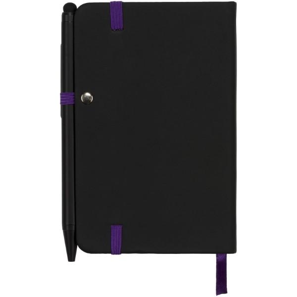 Zápisník Small noir edge - Černá / Purpurová