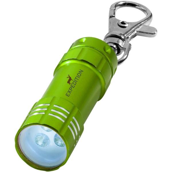 Klíčenková LED svítilna Astro - Limetkově zelená