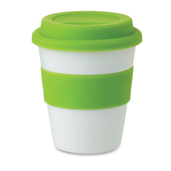 Kubek PP, silikonowe wieczko Astoria - zielony