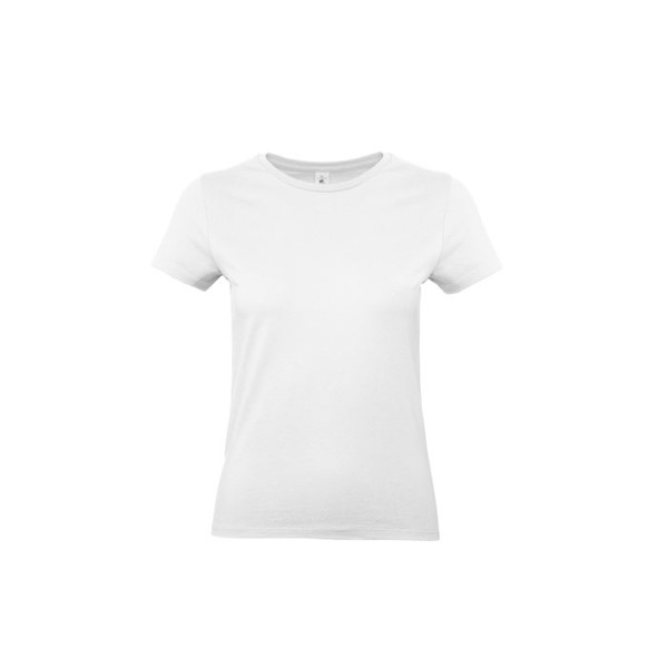 Tricou damă 185 g/m² #E190 /Women T-Shirt - white / XL