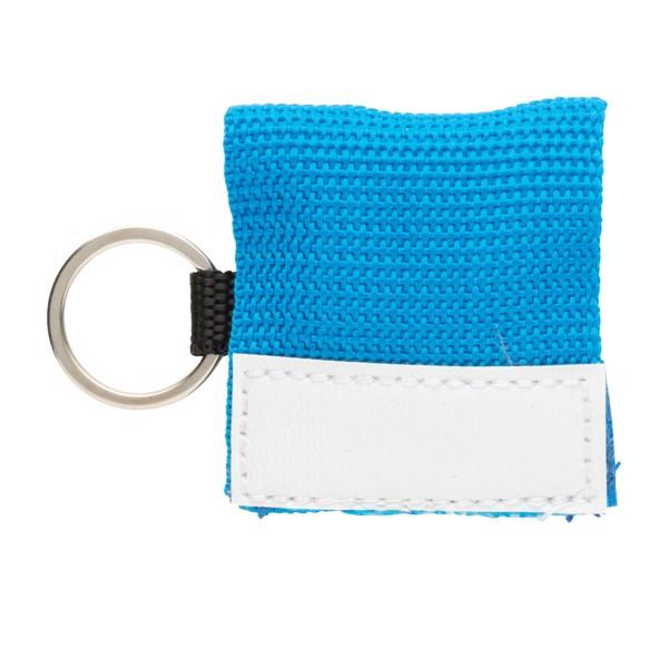 CPR maszk kulcstartóval - Kék