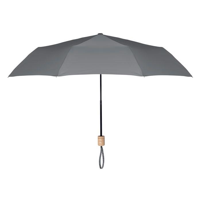 Foldable umbrella RPET pongee Tralee - Grey