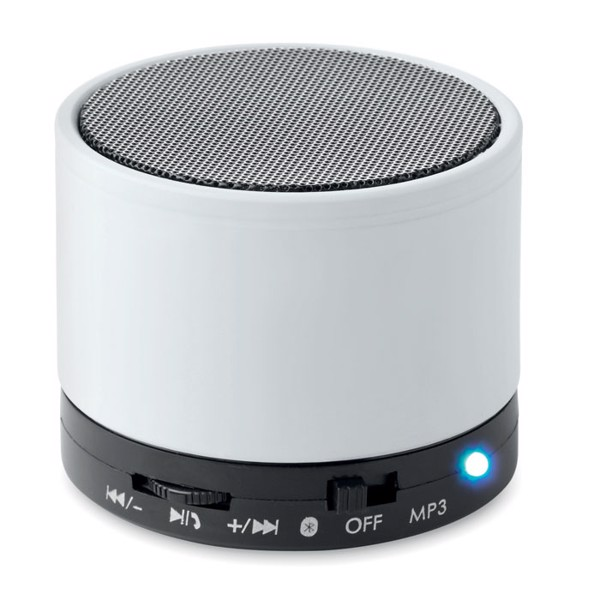 Round wireless speaker Round Bass - White