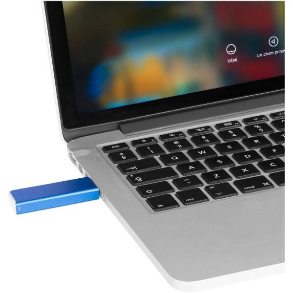 """Memoria USB de 8 GB """"Glide"""" - Negro Intenso"""