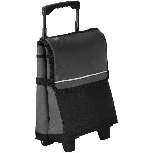 Roller 32-can cooler bag with wheels - Grey / Solid black