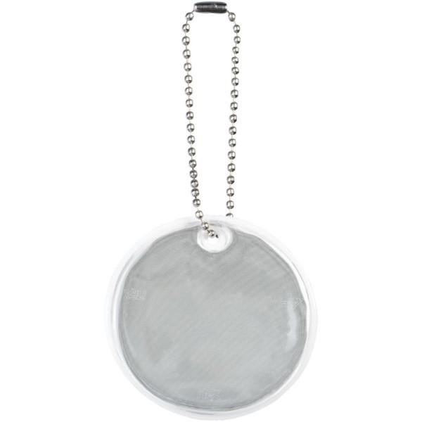 Reflective hanger round medium - White