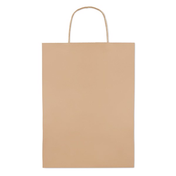 Gift paper bag large size Paper Large - Beige