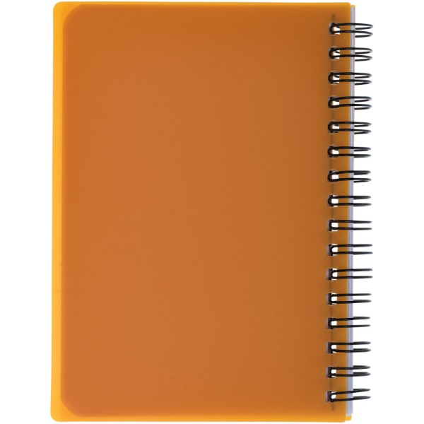Colour-Block A6 Spiralnotizbuch - Orange