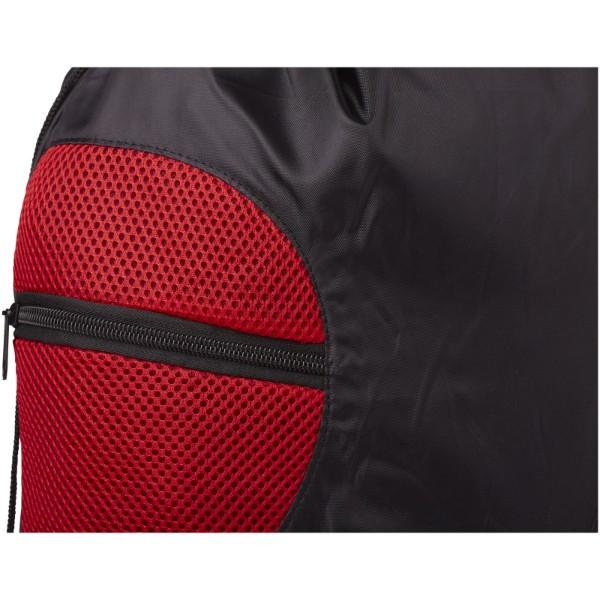 Kick zippered pockets drawstring backpack - Red