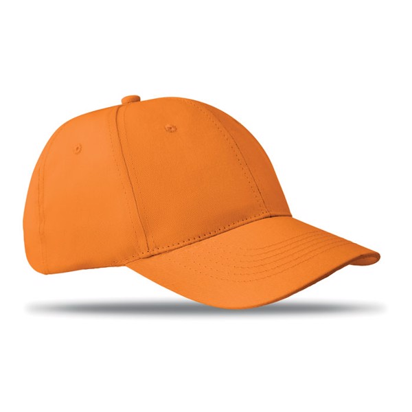 6 panels baseball cap Basie - Orange