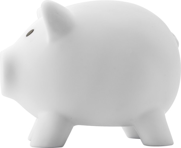 PVC piggy bank - White