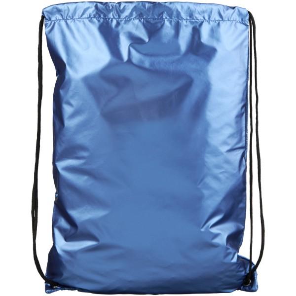 Oriole shiny drawstring backpack - Light blue