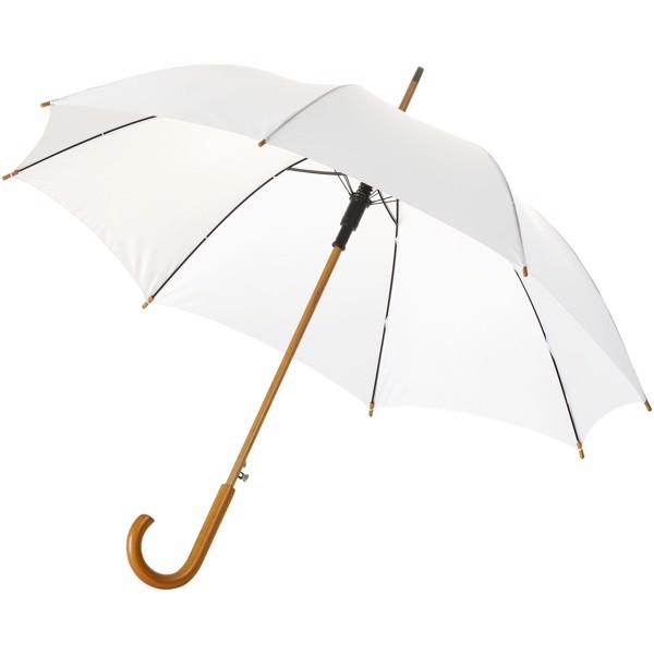 """23"""" deštník Kyle s automatickým otvíráním a dřevěnou tyčí a rukojetí - Bílá"""