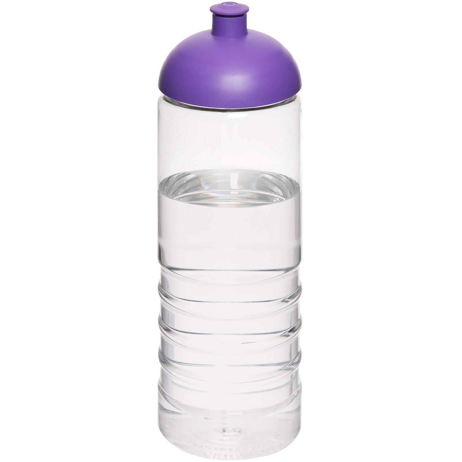 H2O Treble 750 ml sportovní lahev s kupolovitým víčkem - Průhledná / Purpurová