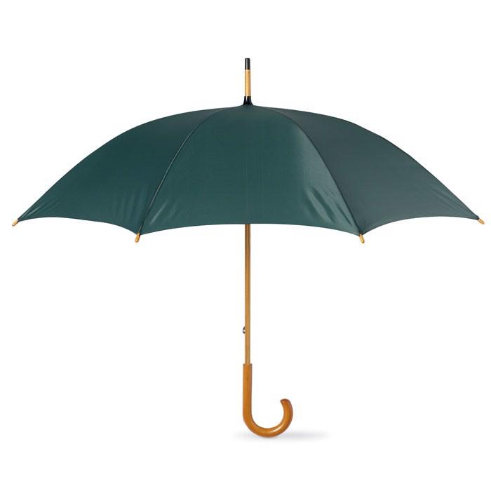 Parasol z drewnianą rączką Cala - zielony