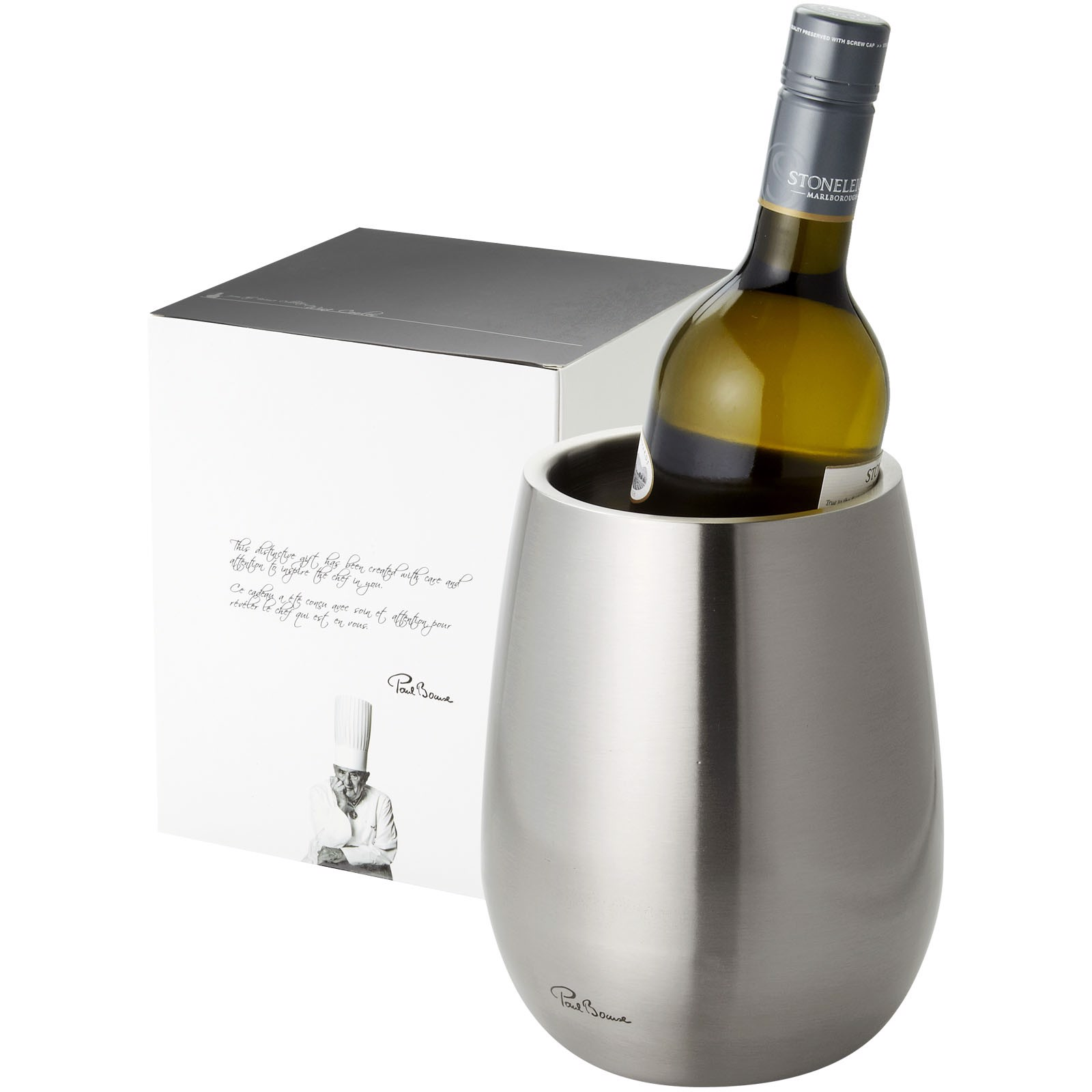 Coulan double-walled stainless steel wine cooler - Silver
