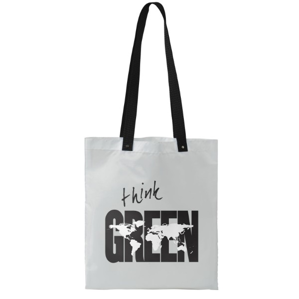 Uto coloured handles convention tote bag - White / Solid black