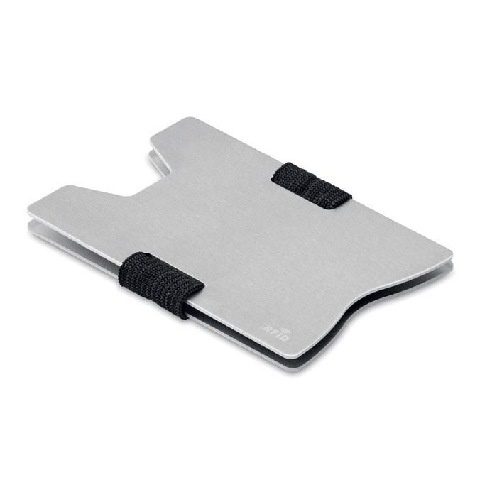 Etui na karty RFID Secur - srebrny