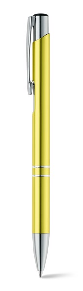 BETA. Esferográfica em alumínio - Amarelo