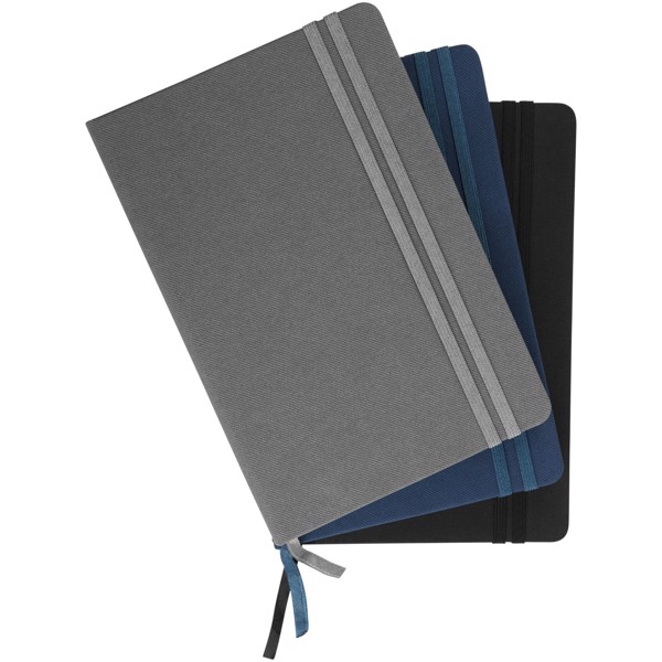 Denim A5 hard cover notebook - Grey