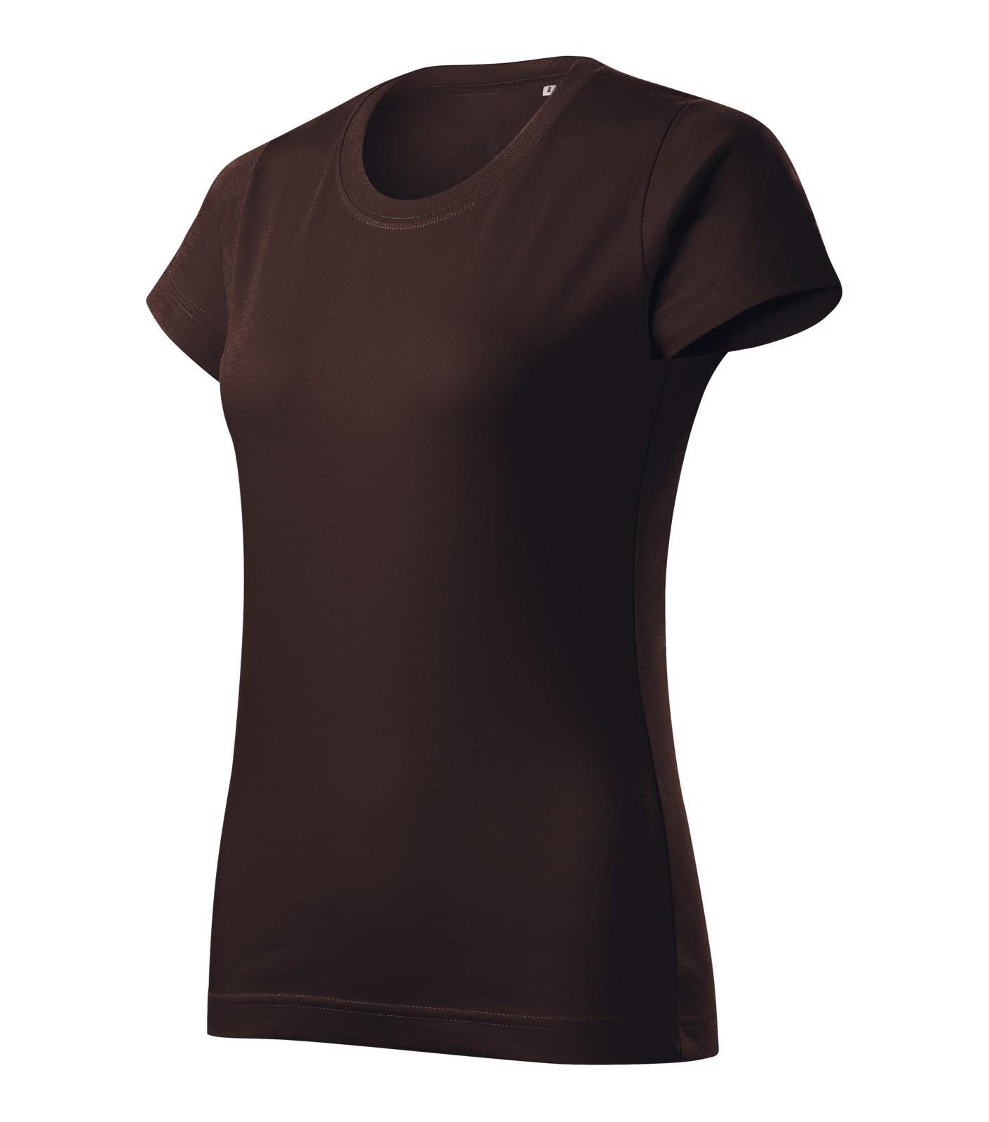 T-shirt women's Malfini Basic Free - Coffee / 2XL