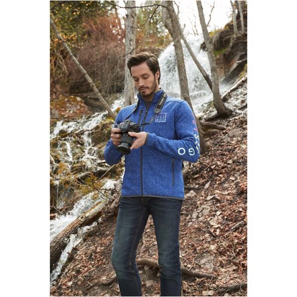 Tremblant men's knit jacket - Heather blue / XXL