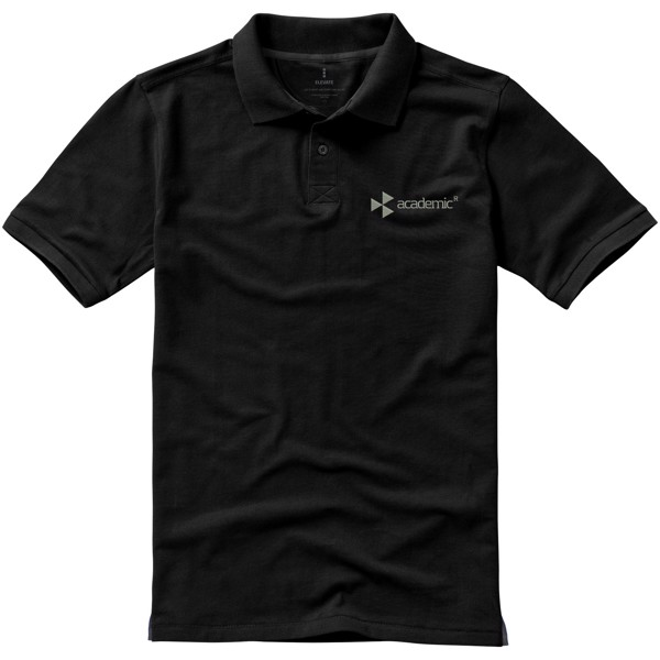 Calgary short sleeve men's polo - Solid black / XXL