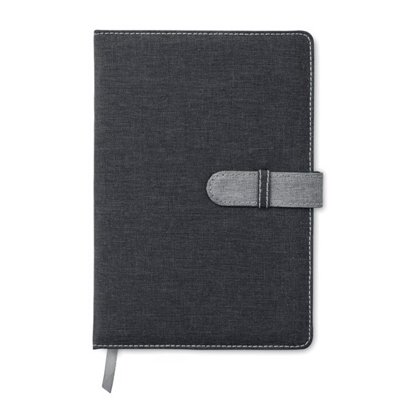 A5 notebook canvas cotton Bisnote - Grey