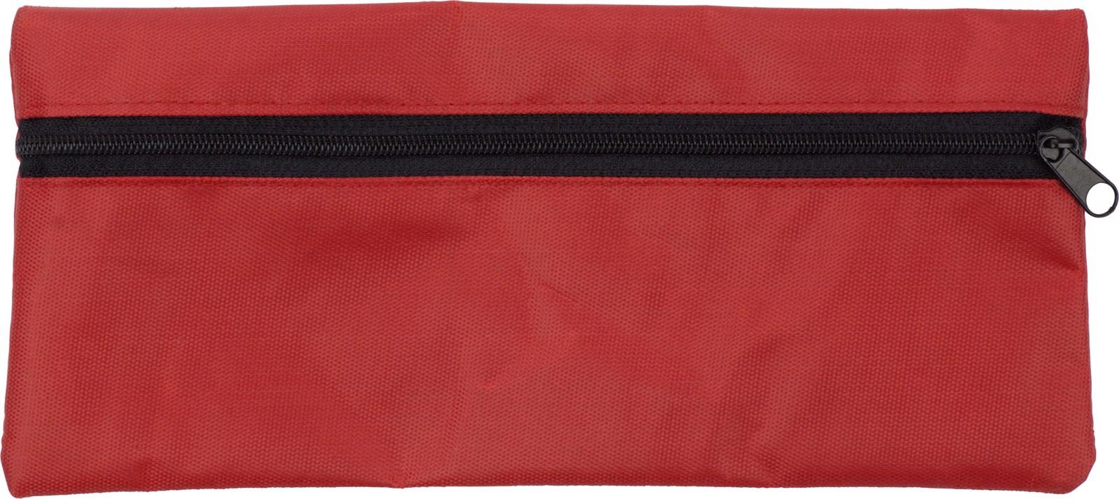 Nylon (420D) pencil case - Red