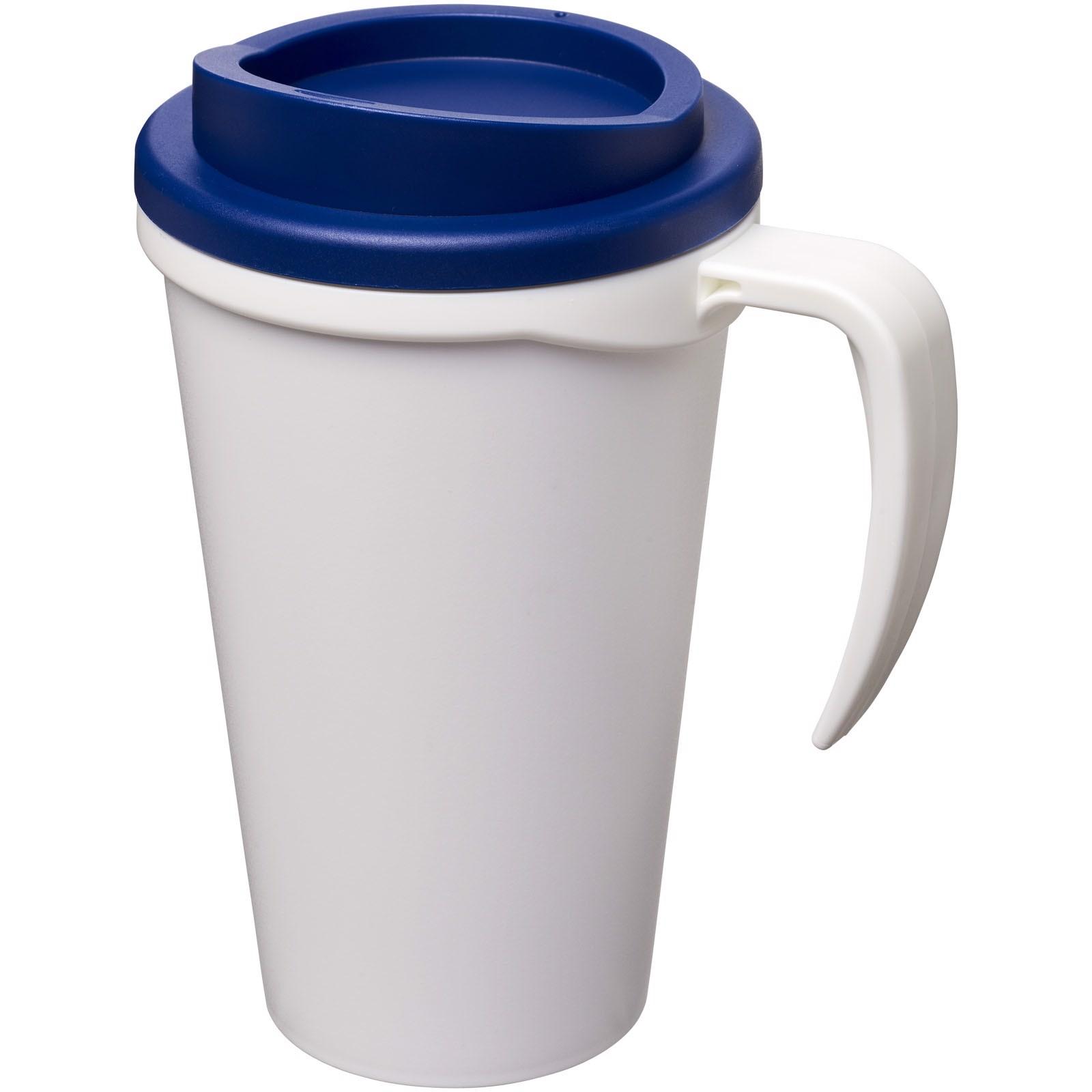 Americano® Vaso térmico grande de 350 ml - Blanco / Azul