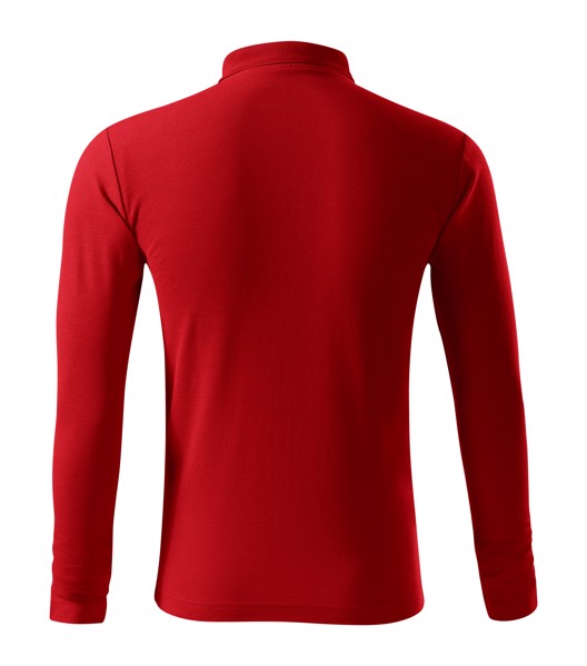 Polo Shirt men's Malfini Pique Polo LS - Red / L