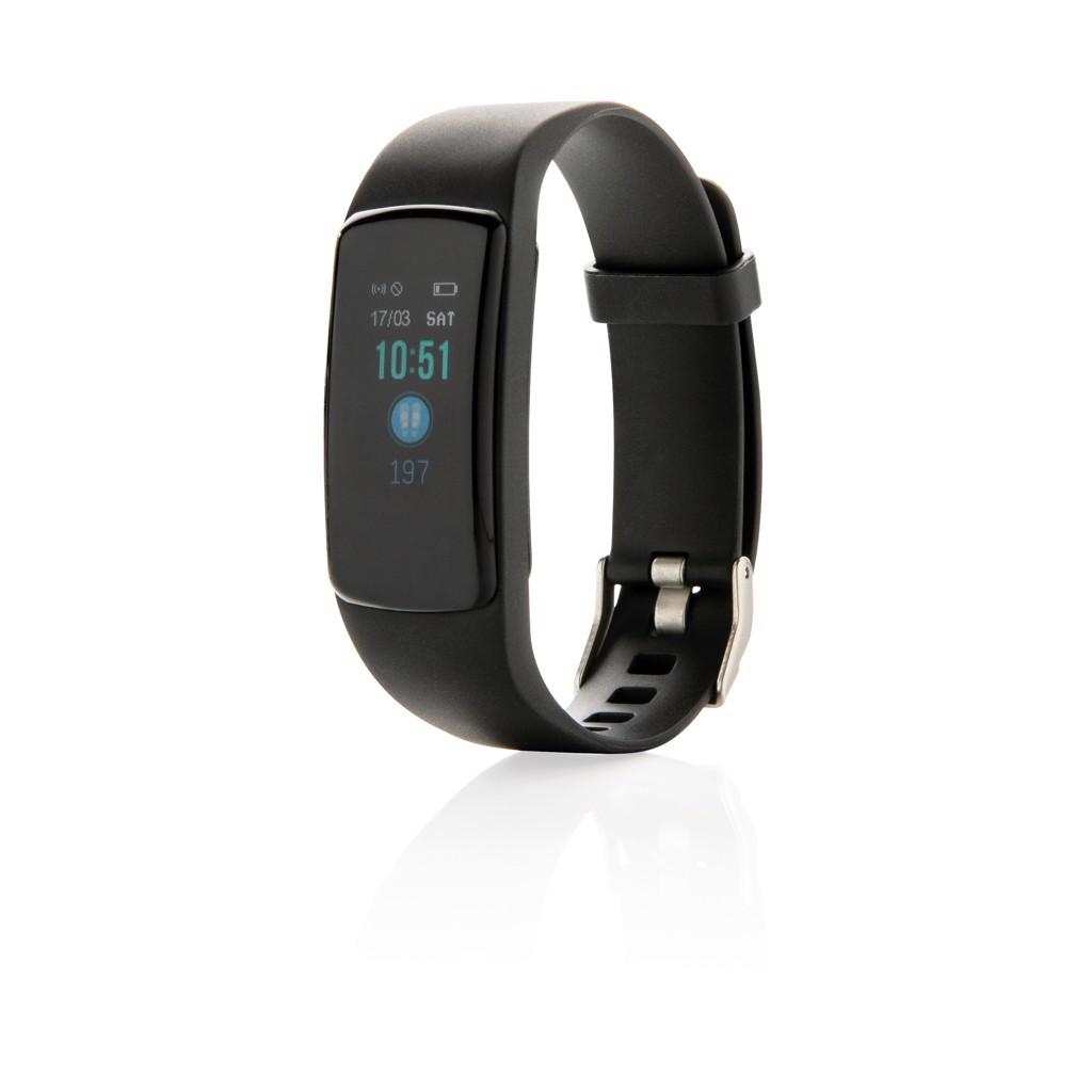Fitness náramek Stay Fit s monitorem srdečního tepu - Černá