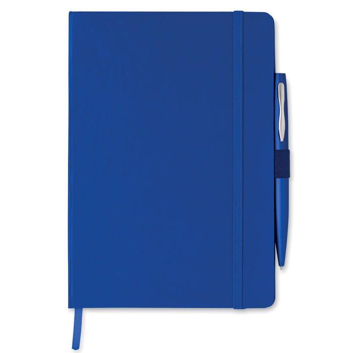 Notes A5 z długopisem Notaplus - granatowy