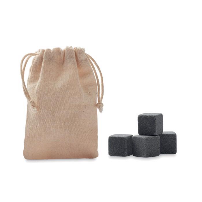 4 kamnite kocke ledu v vrečki Rocks