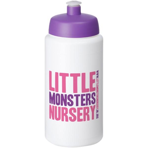 Baseline® Plus grip 500 ml sports lid sport bottle - White / Purple