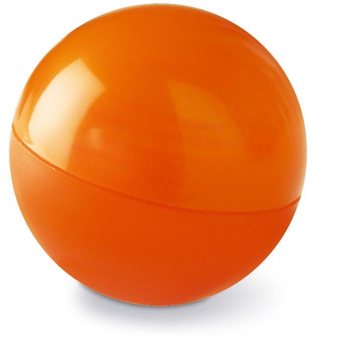 Lip balm in round box Soft - Orange