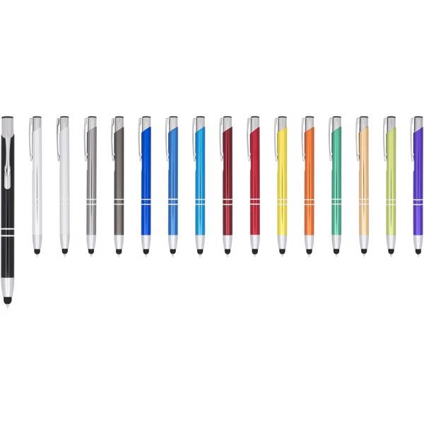 Moneta anodized aluminium click stylus ballpoint pen - Red