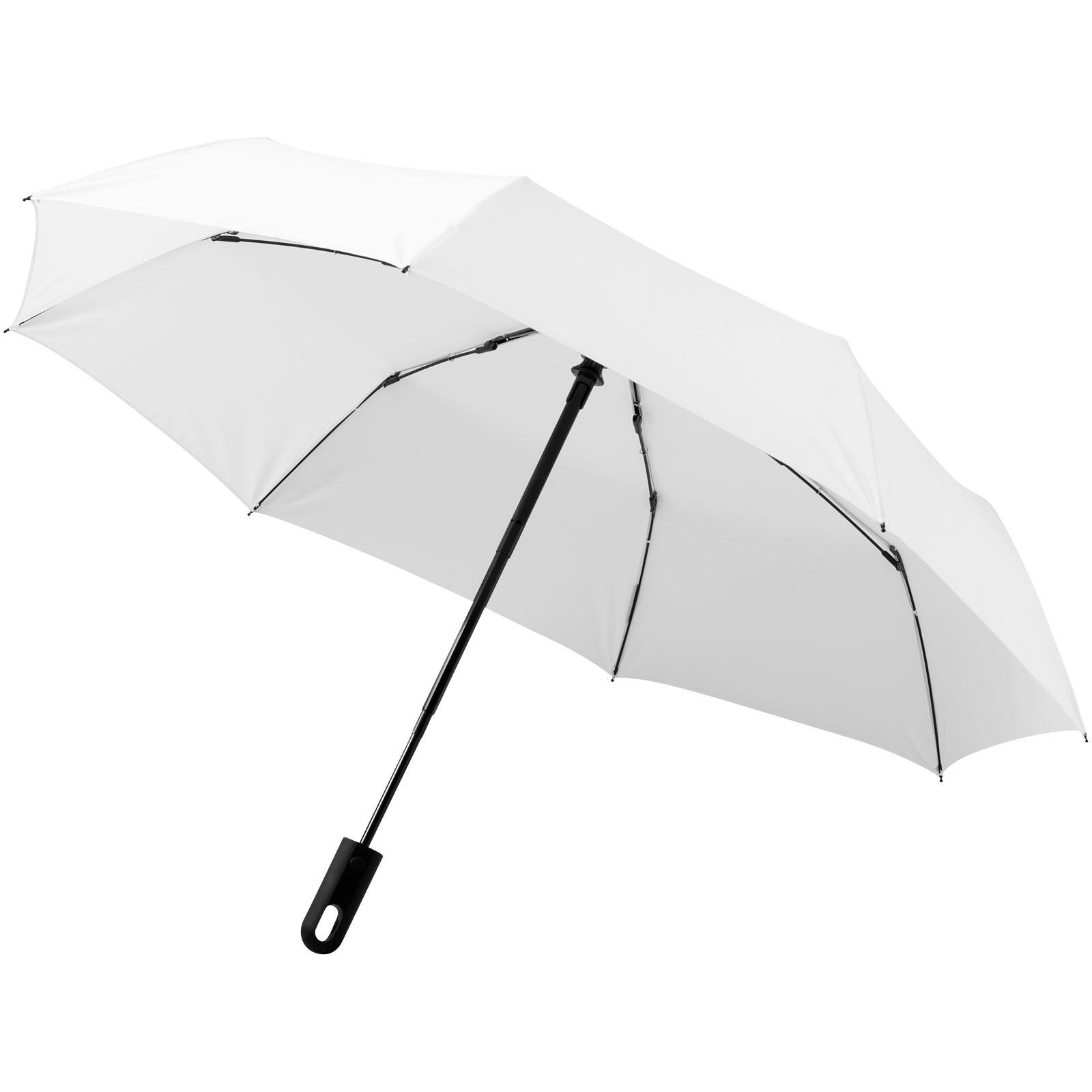"""21,5"""" skládací deštník Traveller s automatickým rozevíráním/skládáním - Bílá"""