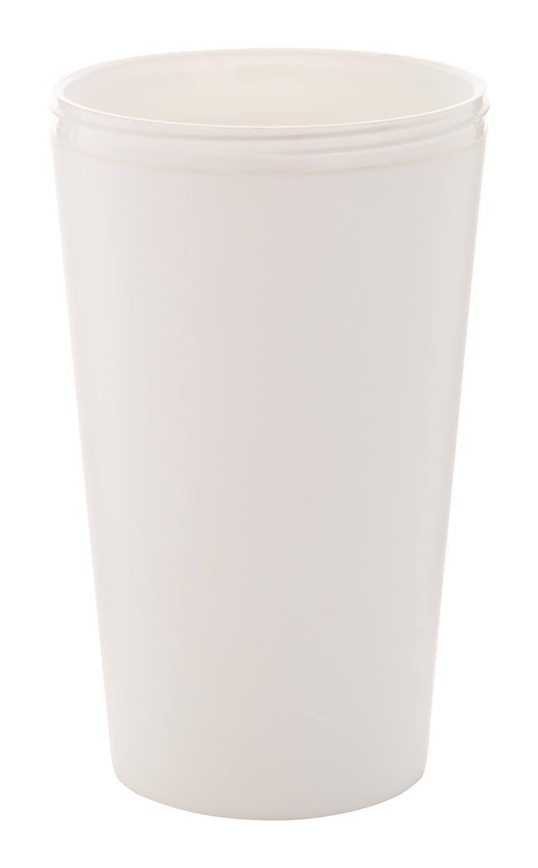Customisable Thermo Mug CreaCup, Lid - White / B