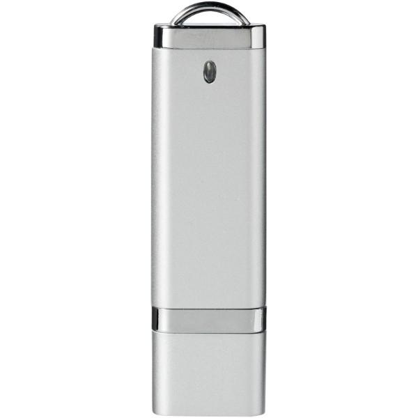 USB disk Flat, 4 GB - Stříbrný
