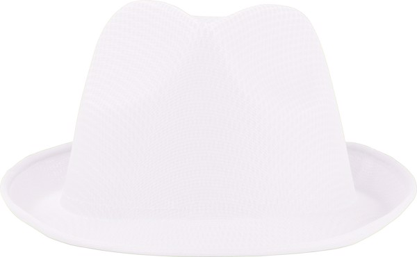 Polyester hat - White