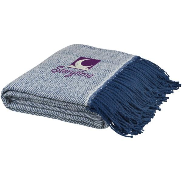 Haven herringbone throw blanket - Navy
