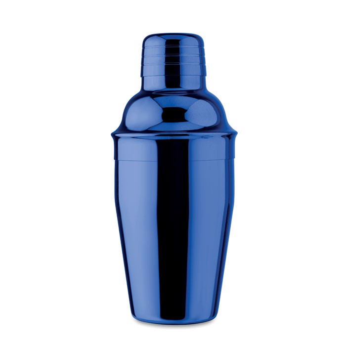 Cocktail shaker w/ UV plating Gold Fizz - Royal Blue