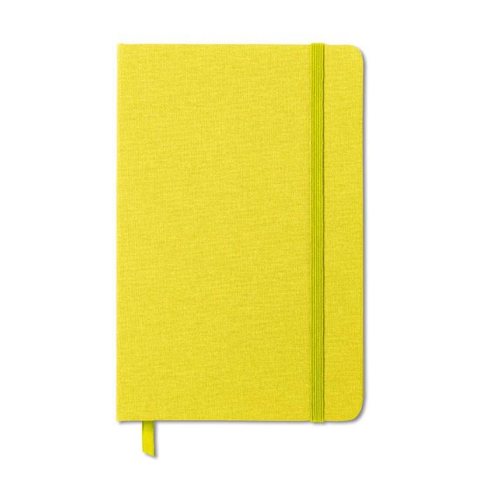 A5-ös jegyzetfüzet Fabric Note - banánzöld