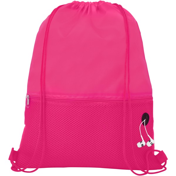 Oriole mesh drawstring backpack - Magenta