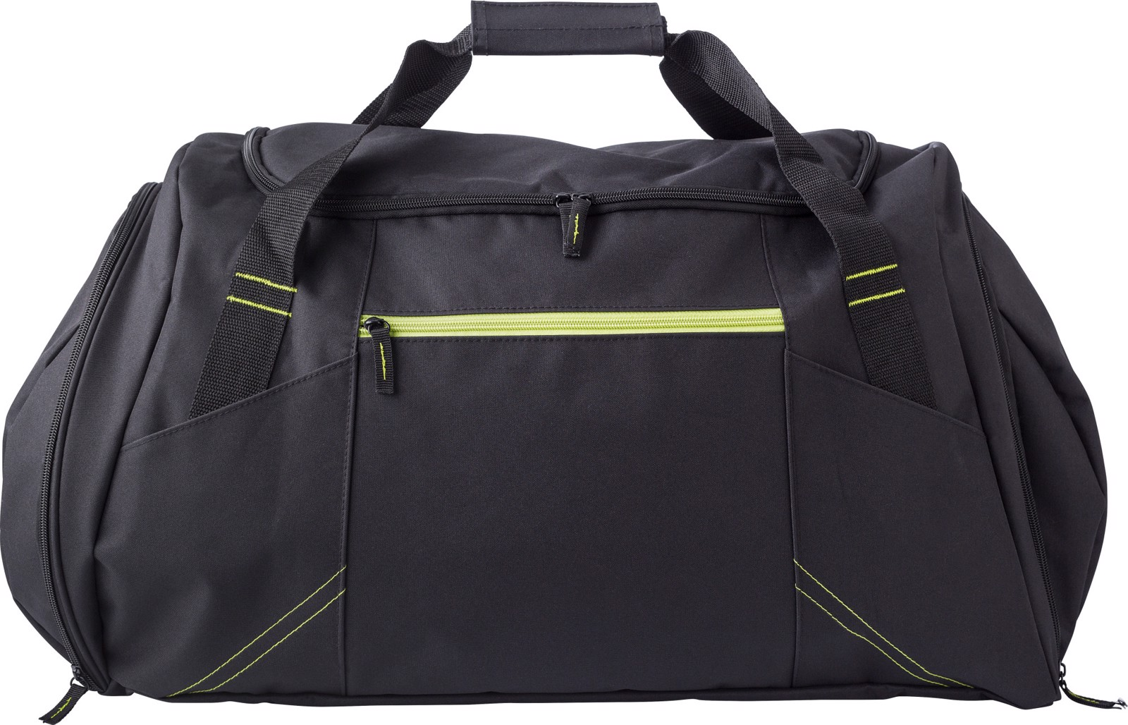 Polyester (300D) sports bag - Lime