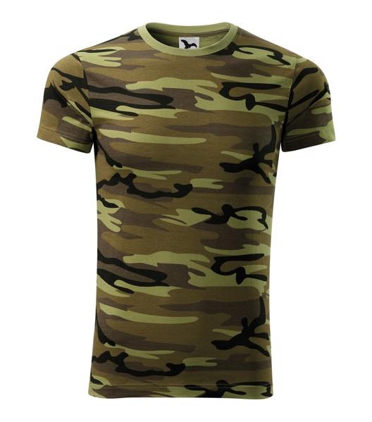 Tričko unisex Malfini Camouflage - Camouflage Green / M