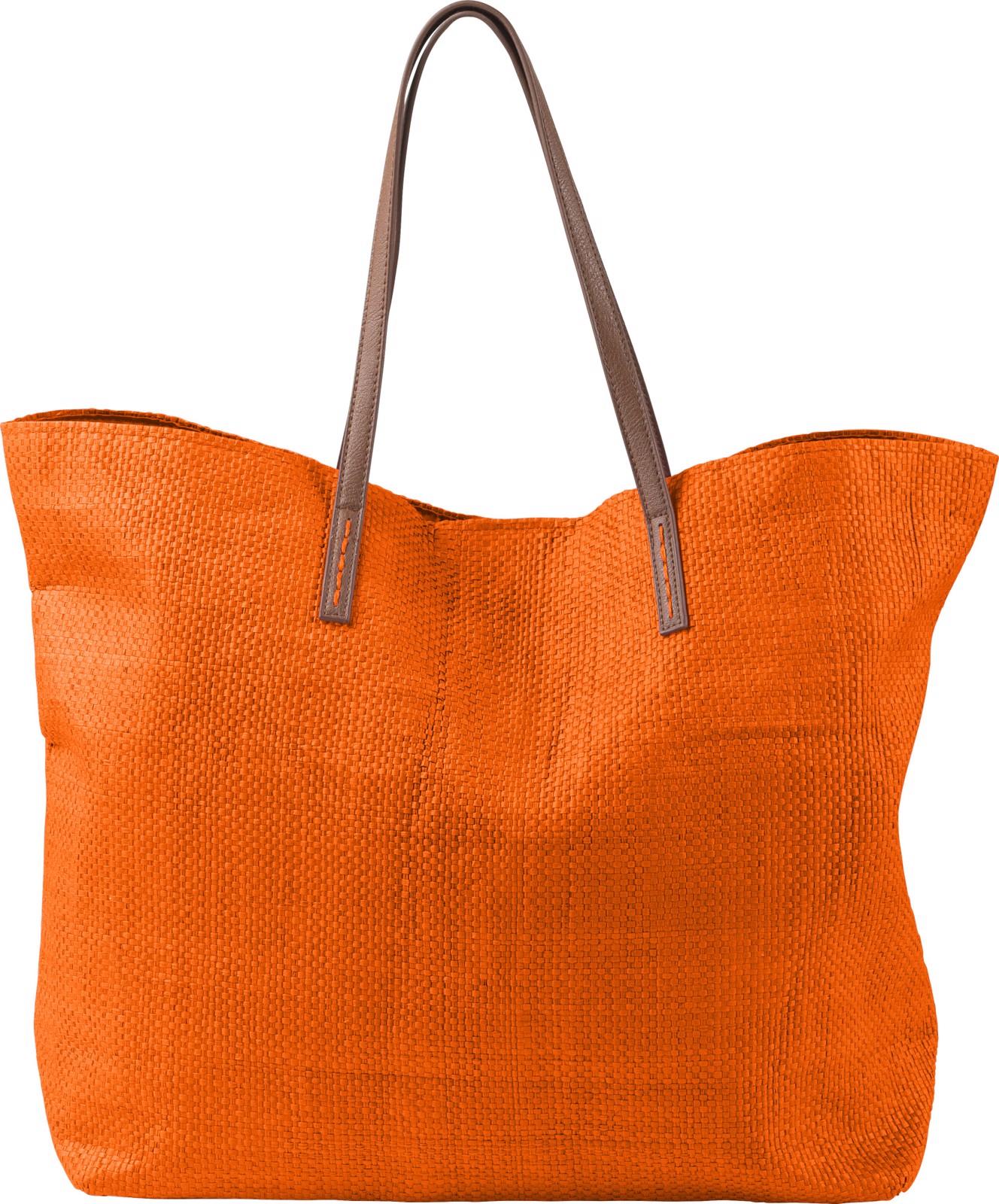 Laminated nonwoven (180 gr/m²) beach bag - Orange