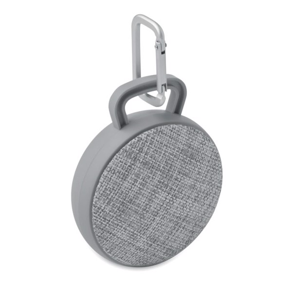 Round wirelessSpeaker in fabric Roll - Grey